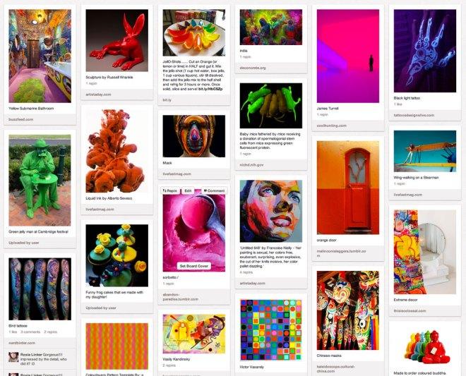 Pinterest board 'Exttreme colour'