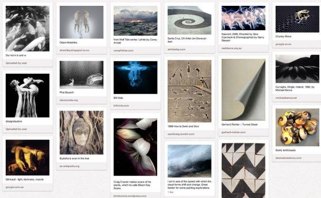 Pinterest board 'inspiration'