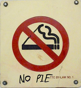 'No Pie' sign