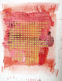 'Waste paint' orange weave first layer