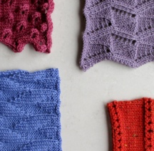 Textured wool swatches