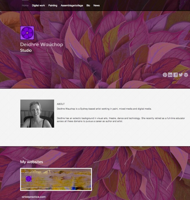Screenshot of studio website